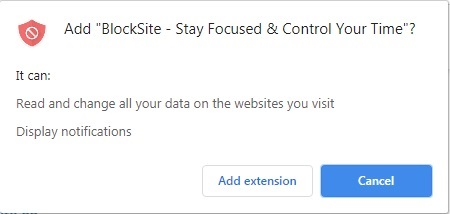 Add Extenison Chrome Block Site